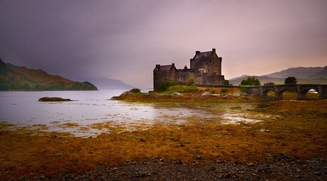Medieval Scotish castle, near Isle of Skye, called Eilean Donan