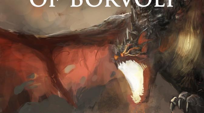 fantasy scene knight fighting dragon